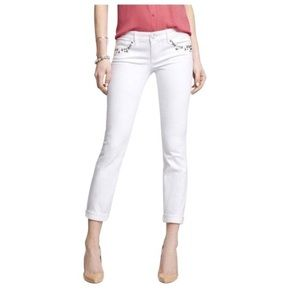 NWT $88 Express Stella Studded Cropped Jeans Sz 6